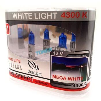Автолампы H4 Clear light White Light 4300K