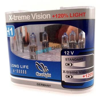 Автолампы H3 Clear light X-Treme Vision +100% 4300K