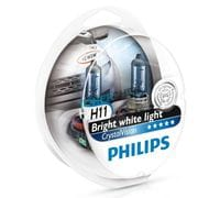 Автолампы H11 Philips Crystal Vision Bright white light