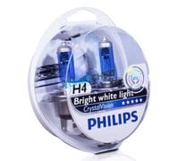 Автолампы H4 Philips Crystal Vision Bright white light