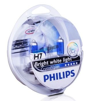 Автолампы H7 Philips Crystal Vision Bright white light