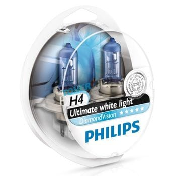 Автолампы H4 Philips Diamond Vision Ultimate white light
