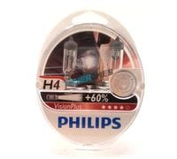 Автолампы H1 Philips Vision plus +60% 3250K